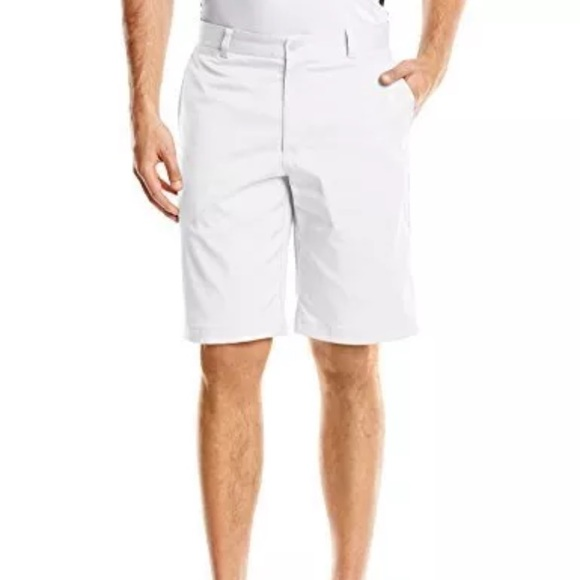check out 29c1a 81a66 Nike Golf Dri-Fit Flat Front White Shorts - 38
